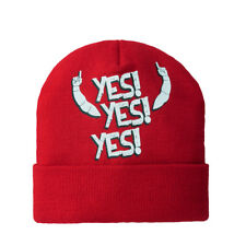 Daniel Bryan Red Yes Yes WWE Authentic Knit Beanie Cap Hat