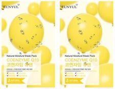 [EUNYUL] COENZYME Q10 Natural Moisture Face Mask Pack 2 Sheets Korean SkinCare