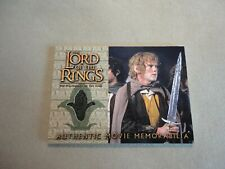 LOTR - THE TWO TOWERS - AUTHENTIC MOVIE MEMORABILIA - MERRY'S TRAVEL
