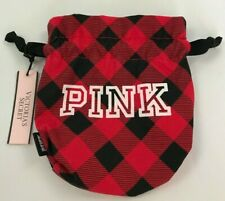 Victoria's Secret PINK Cosmetic Drawstring Pouch Bag - Red - NWT