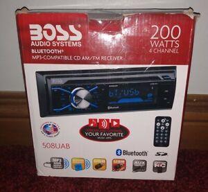 NIB!BOSS AUDIO SYSTEMS 508UAB 200W 4 CHANNEL CD Player/MP3/USB In Dash Receiver