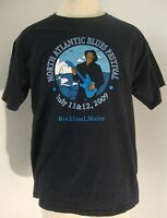 NORTH ATLANTIC BLUES FESTIVAL 2009 ROCKLAND MAINE MENS SIZE LARGE EUC
