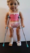 "Pair of Doll Crutches Fits American Girl, KNC or Other 18"" Dolls"
