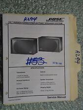 Bose 4.2 series II service manual original repair book stereo speaker system