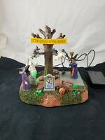 Lemax Halloween Spooky Town Little Ghouls Flying School Lighted/Animated in Box