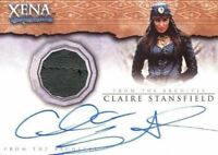 Xena Beauty and Brawn Claire Stansfield Autograph Costume Card AC1