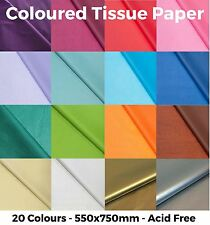 More details for coloured tissue paper - high quality & acid free - 500mm x 750mm - 20 colours