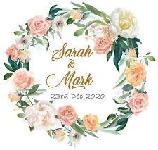 Personalised Wedding Mehndi Stickers Labels Thanks GLOSS, MATT, GOLD FOIL