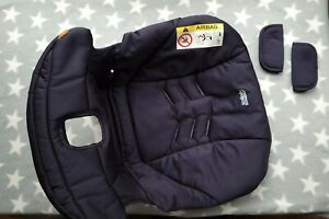 Cybex Aton Baby Car Seat Navy Blue & Strap Pads Cover Fabric Spare Replacement