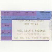 BOB DYLAN & PHIL LESH Concert Ticket Stub E RUTHERFORD NJ 11/13/99 GRATEFUL DEAD