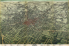 "20x30"" CANVAS Decor.Room design print..1890 Atlanta Bird eye view.Aerial.6150"