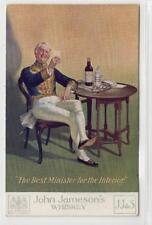 JOHN JAMESON'S: Whiskey advertising postcard (C33974)