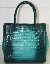 $4200 NEW Nancy Gonzalez TESS Tote Handbag Green Emerald Ombre Crocodile Bag