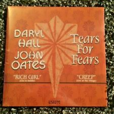 "HALL AND OATES / TEARS FOR FEARS split 7"" vinyl PROMO ONLY single BRAND NEW 2017"