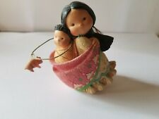 """Retired 1994 Enesco """"Mother And Her Little One"""" Friends Of The Feather Figurine"""