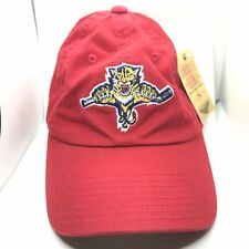 dc1053680fca6 Florida Panthers American Needle Blue Line Curved Bill Adjustable Hat NHL  Cap Red - 798698290383
