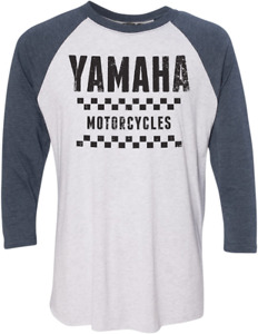Factory Effex Yamaha Vet 3/4 Baseball Tee - Navy/White - All Sizes