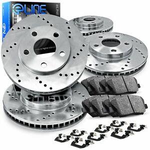 For Mercedes-Benz C280, C300, C250 Front Rear  Drilled Brake Rotors+Ceramic Pads