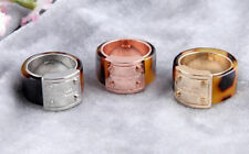 3Colors/Size6 Size7 Size 8  Hot Sale Pave  Resin Lock  Ring