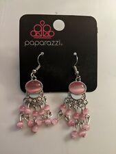 Paparazzi pink dangle earrings