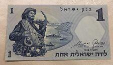 1 Israeli Lira 1958 Unc BankNote Bank Of Israel (#C03388)