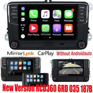 """6.5"""" Autoradio RCD360 CarPlay 187B GPS BT Pour VW Golf 5 6 Tiguan Passat"""
