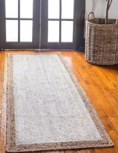 white jute braided runner rug handmade floor rug runner rug bohemian decor rugs