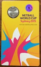 2015 netball World Cup Sydney  20 cents S counter stamp UNC