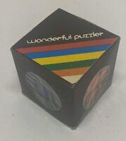 Wonderful Puzzler Cube (Rubix Cube) - Vintage Game Puzzle