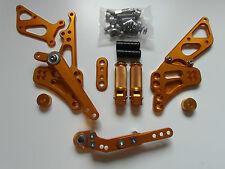 Suzuki GSX R 600 750 L1 L2 L3 L4 L5 L6 CNC Alu Fußrastenanlage Rear Set gold