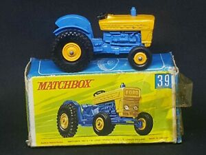 Matchbox Lesney Transitional MB39-C1: Ford Tractor, G Box, NO Ejector Ring
