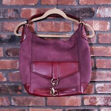 Rebecca Minkoff Plum Soft Pebbled Leather Handbag Large Shoulder Bag Purse