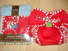 Kushies Baby Reusable Swim Nappy/Diaper Bright Red Size 6-11kgs BNIP