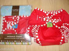 Kushies Baby Reusable Swim Nappy/Diaper Bright Red Size 6-11kgs BNIP