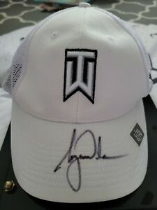 Tiger Woods Autographed TW Hat in Mirror Display JSA LOA