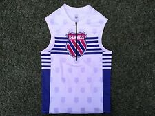 K~Swiss Triathlon Tri Run Bike Swim Vest Top With 2 Pockets White & Blue ~ Small