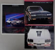 1983 3x CHEVROLET CAMARO , MONTE CARLO Prospekt Sales Brochure