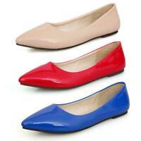 Patent Flats Ballerinas ccc Pumps Pointed Toe Shoes Womens Ballet Plus size