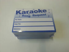 500 Karaoke Request Song Artist Slips - use for karaoke machine parties / Events