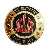 Poker Card Guard CATCH THE MADNESS doré jeton cartes