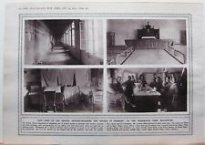 1915 WWI WW1 PRINT HOW BRITISH OFFICER-PRISONERS HOUSED IN GERMANY WAGENHAUS
