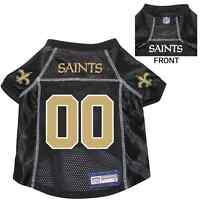 NEW NEW ORLEANS SAINTS PET DOG PREMIUM NFL JERSEY w/NAME TAG ALL SIZES
