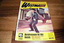 WESTMANN  # 1195 -- REVOLVERMANN für das GESETZ // Kirk Douglas-Titelbild  1967
