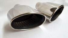 """Pair Audi RS Look Slant Oval Exhaust Tips for A3 S5 A7 S3 S1 S6 Rolled 2.5"""" Bore"""