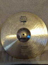 """Paiste 14"""" Bronze 502 hihat cymbals used Free Shipping"""