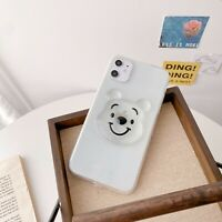 Bling Fr iPhone 12 Pro Max Mini 11 XS Epoxy 3D Smile Bear Case Armor Clear Cover