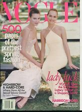 VOGUE March 1997 Magazine AMBER VALLETTA & SHALOM HARLOW Cover by STEVEN MEISEL