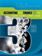 Nelson Accounting and Finance 3A-3B by John Cannon, Alan Phillips, Chris Durrant