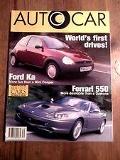 AUTOCAR MAGAZINE 25-SEP-96 - Ferrari 550 Maranello, Ford Ka, Audi A3 1.8 Sport
