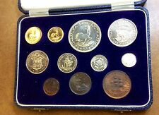 {BJSTAMPS} 1955 SOUTH AFRICA GOLD 1-2 RAND & SILVER  PROOF SET only 600 MINTAGE